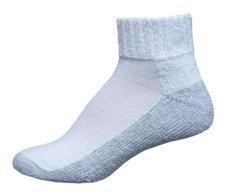 InStride Diabetic Quarter Socks, White, Xtra Large