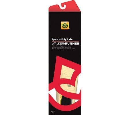 Spenco 38-389 WIDE: Polysorb Arch Walker/Runner/Trainer/Sport Replacement Insole (Yellow/Red, 4)