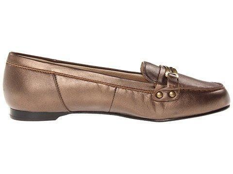 Ros Hommerson Womens Nance Bronze Nappa Loafers 12 WW (EE)