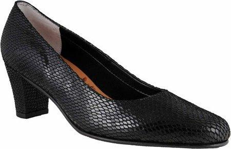 Ros Hommerson Women's Bright,Black Snake Print Leather,US 12 XW