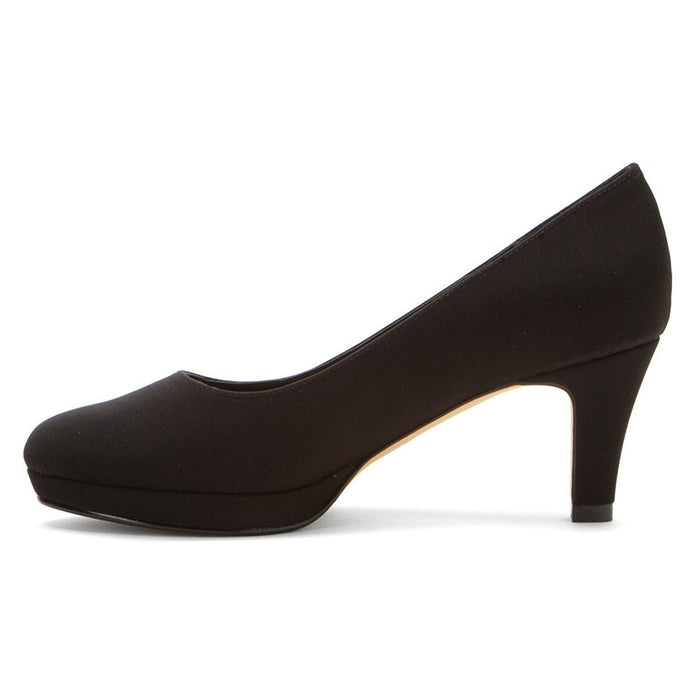 Rose Petals Women's Pepper Black Micro Pump 10 WW (EE)
