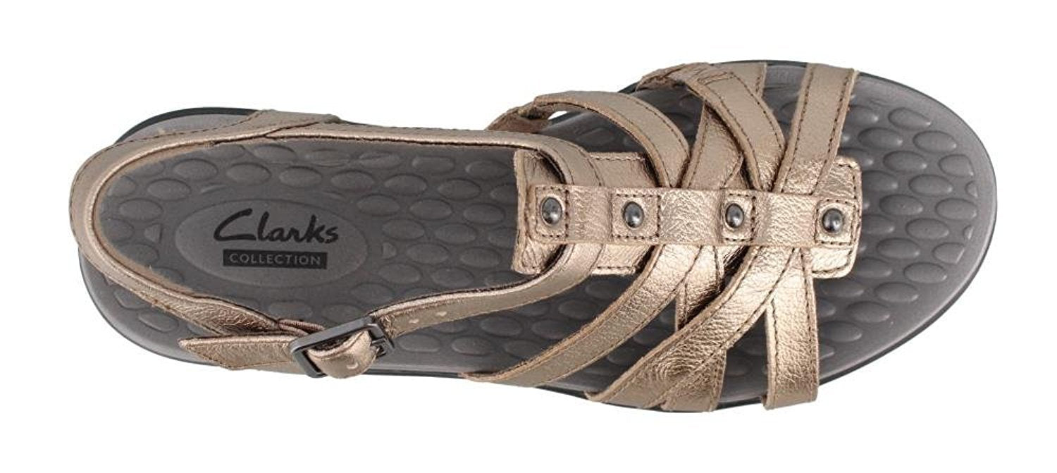 CLARKS Women's, shelba Jacoby Mid Heel Sandals