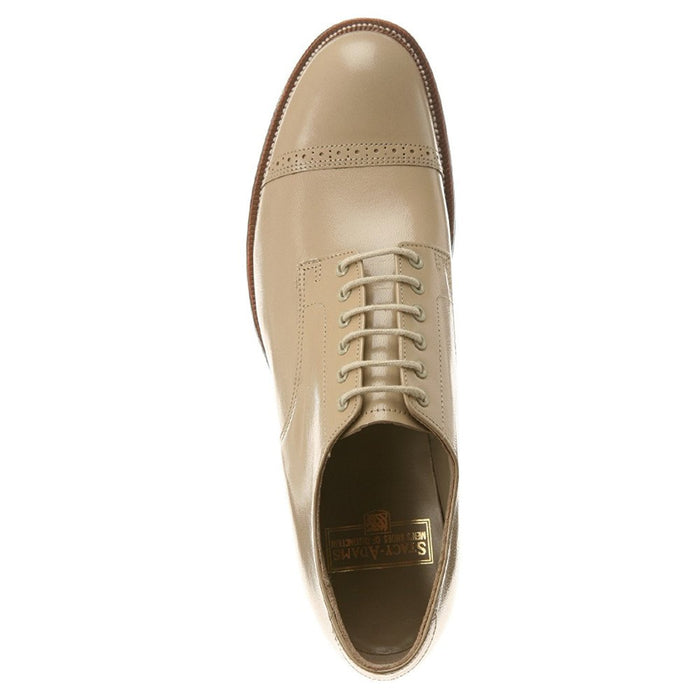 Stacy Adams Men's Madison Lizard Print Oxford, 10, Taupe