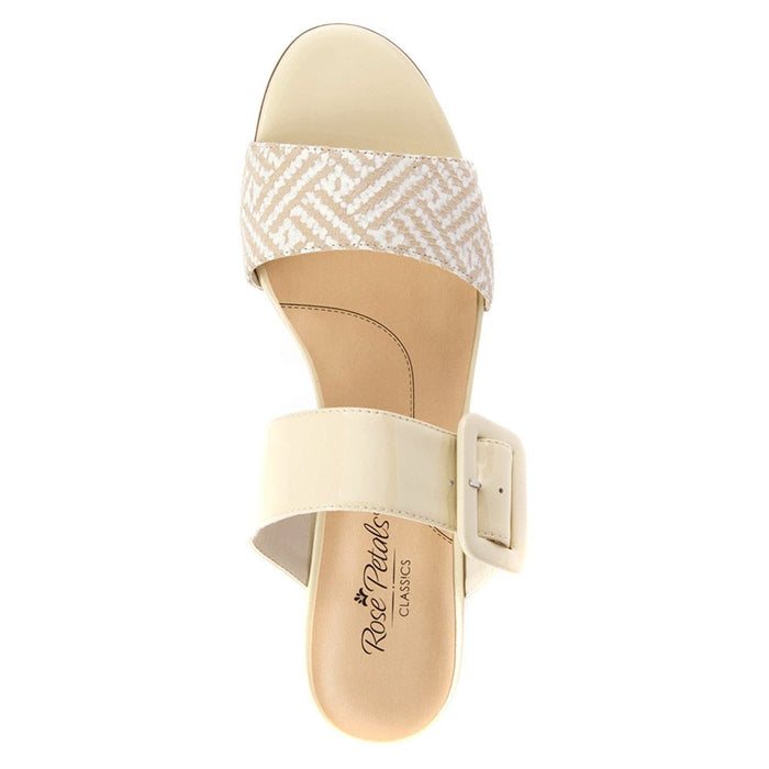 Rose Petals Women's Jada Wheat Patent/Wheat Chevon Web Sandal