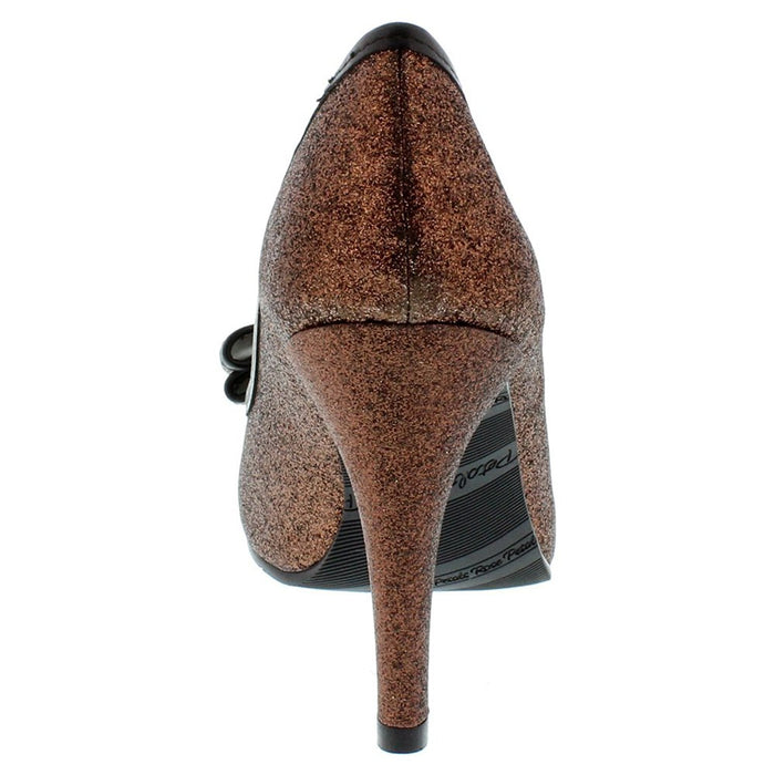 Walking Cradles Women's Lizzy Bronze Sparkle Fabric 8.5 WW US