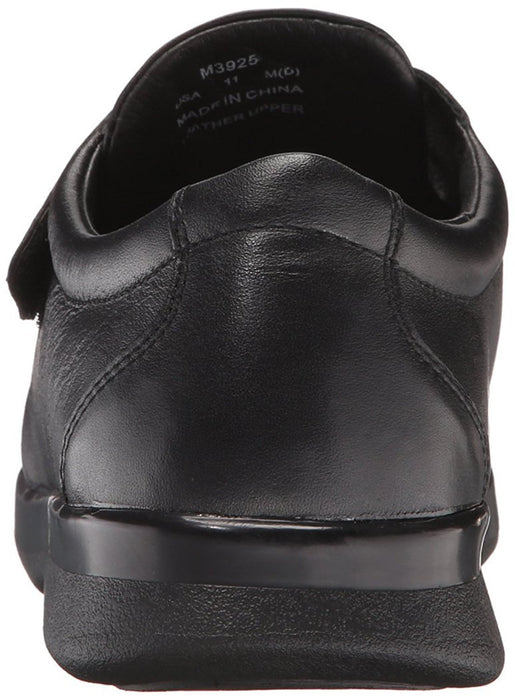 Propet Men's Pucker Moc Strap Black Leather 9 XX (5E)