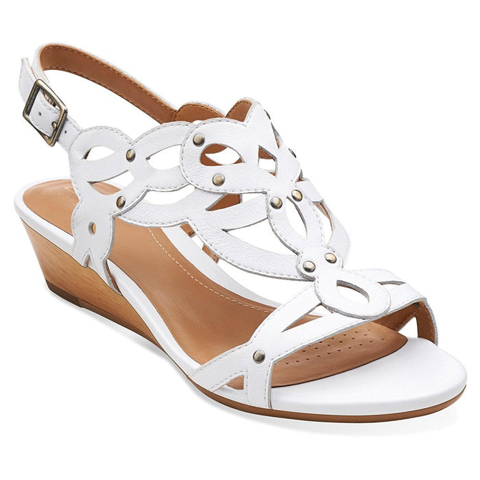 Clarks Women's Playful Tunes Low Wedge Sandal