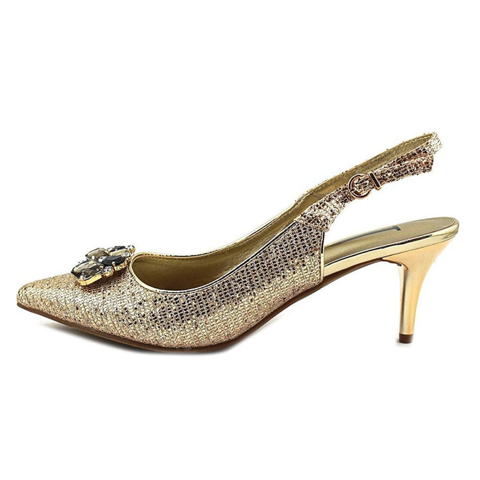 J. Renee Galletley-JJ Women US 10 W Gold Slingback Heel