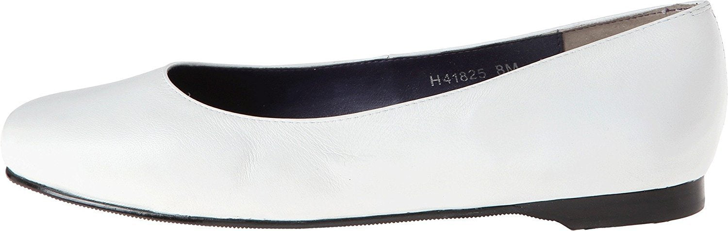 Rose Petals Women's Silly White Nappa Flat 8 WW (EE)