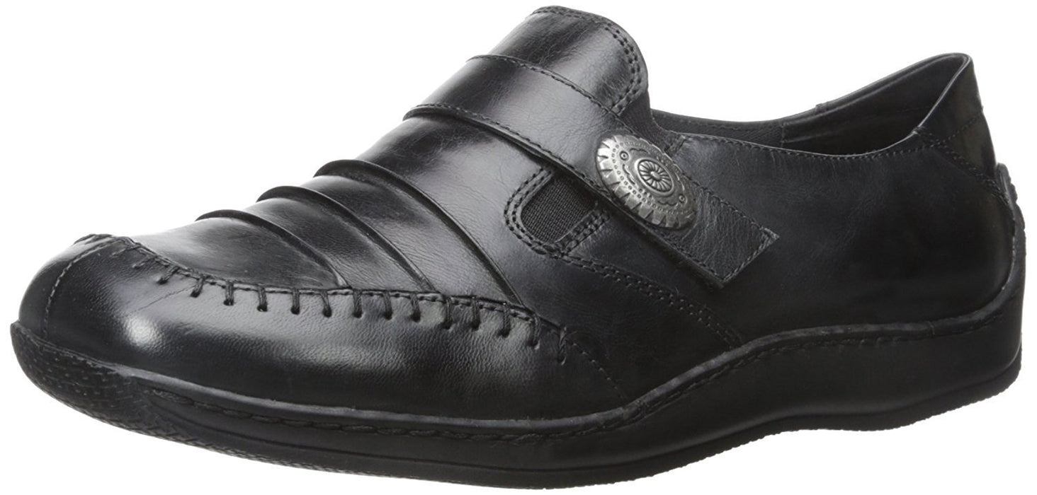 Walking Cradles Women's Bistro,Black Waxy Wash Leather,US 10 XW
