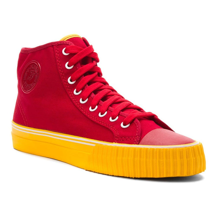 PF Flyers Center Hi Canvas Red Canvas/Yellow