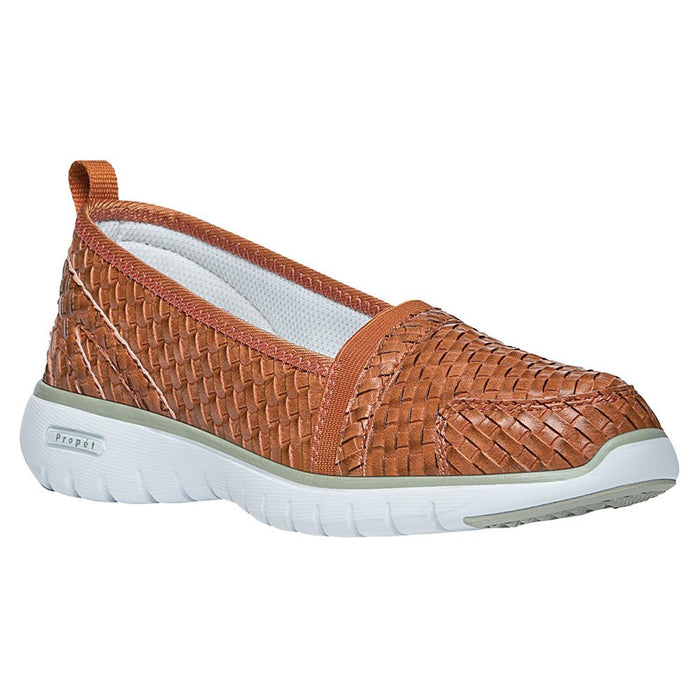 Propét Women's TravelLite Slip-On Woven Burnt Orange 8 XX