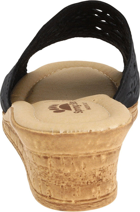 Women's Spring Step ESTELLA Fashion Wedge Slide Sandals