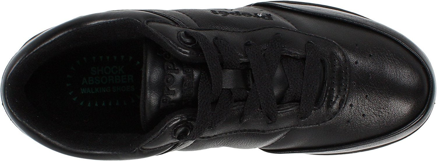 Propet Women's Washable Walker Athletic,Black,6 2E US