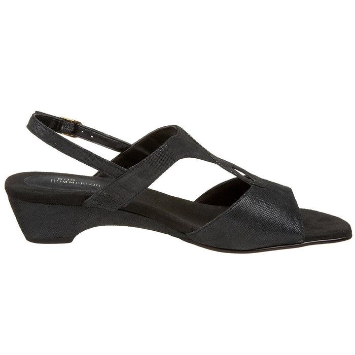 Ros Hommerson Women's Baby Slingback Sandal,Black Microdot Leather,13 N US