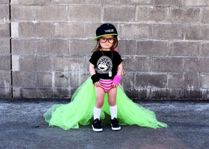 SLime Green Unicorn Tail Cape Tutu