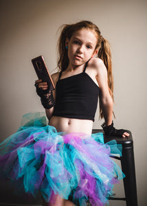 Mermaid Punk Rock Studs Short Tutu