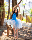 Soft Blue & Ivory Lace high low tutu