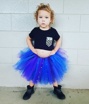 Electric Blue & Purple Punk Rock Studs short TUTU