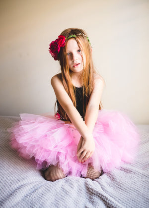 Soft Pink & Punk Rock Studs Short Tutu