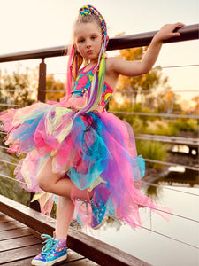 Rainbow & Lace GLiTTeR High Low style Tutu