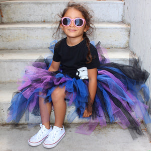 Electric Blue & Purple Lacey High Low Tutu