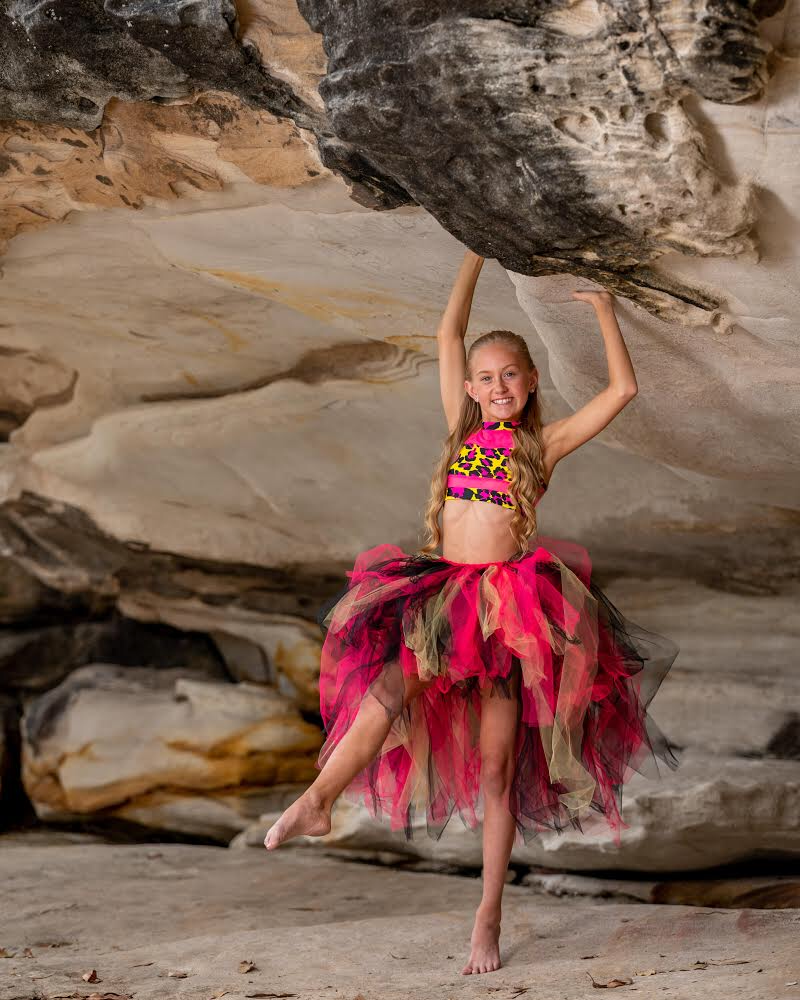 Shocking Pink & Yellow With Black Lace High Low style Tutu