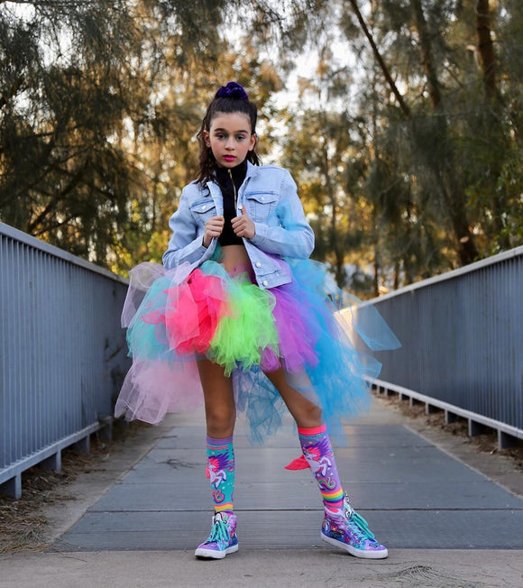 Primary rainbow High Low tutu