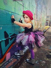 custom tutu, purple tutu, pink tutu, black tutu, punk tutu, unique tutu, rainbow tutu