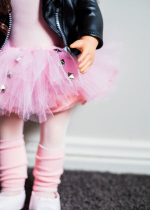 Doll tutu Baby Pink with punk rock studs