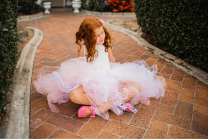 Soft Pink Rose & Lace Mid Length TuTu