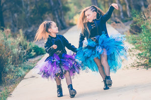 purple tutu, pink tutu, black tutu, punk tutu, unique tutu, cyndi lauper