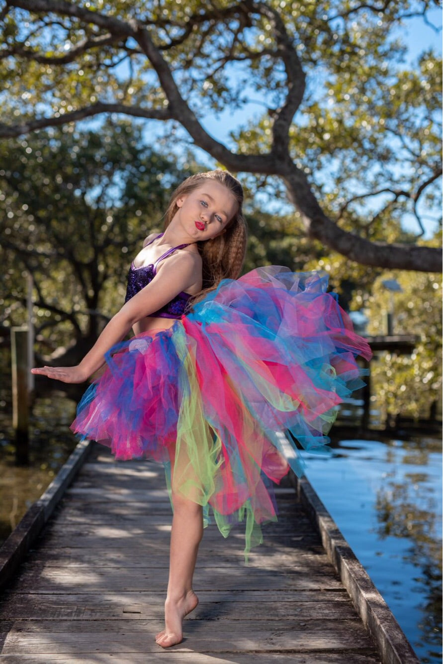 Mixed Rainbow GLiTTeR High Low style Tutu