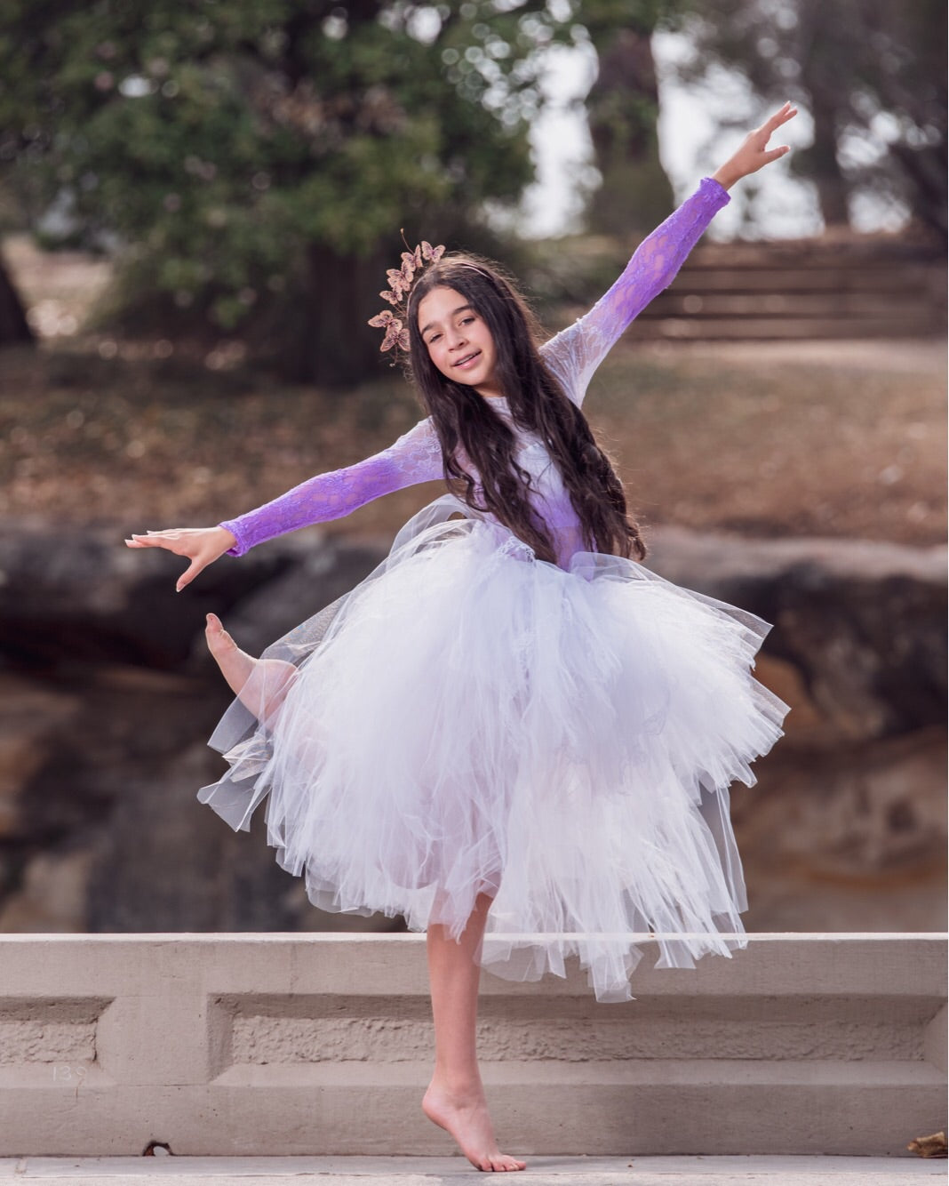 White Lace High Low style Tutu