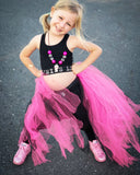 Bright Pink Unicorn Tail Tutu