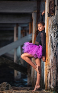 Bright Purple & Lace SHORT TUTU