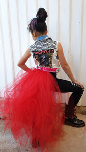 RED Unicorn tail CAPE TuTu