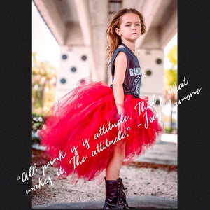 Maroon Red High Low Tutu