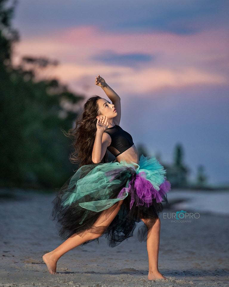 Teal Purple & Black OmbRÉ High Low TUTU