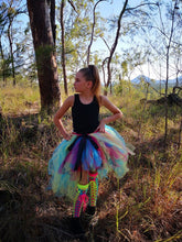 Fluro Rainbow Punk n' Lace  high low tutu