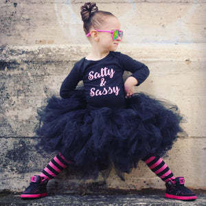 All Black short fluffy Length Tutu