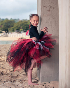 Rad Red GLiTTeR & Lace High Low style Tutu