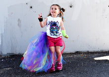Rainbow UNICORN tail CAPE tutu