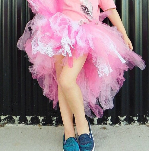 Bubblegum Pink High Low Tutu