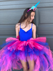 Bright Blue, Rose & Purple OmbRÉ High Low TUTU