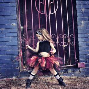 Rusty Orange & Burgundy High Low Tutu