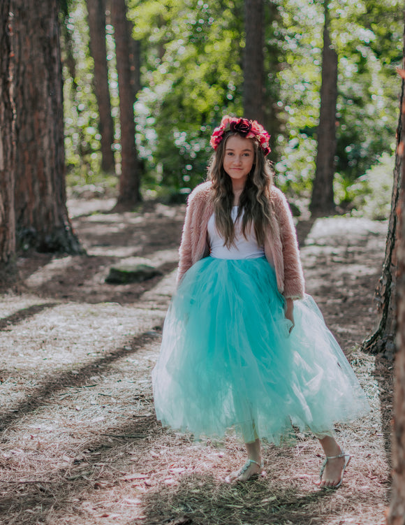 Mint Green Long Length Tutu