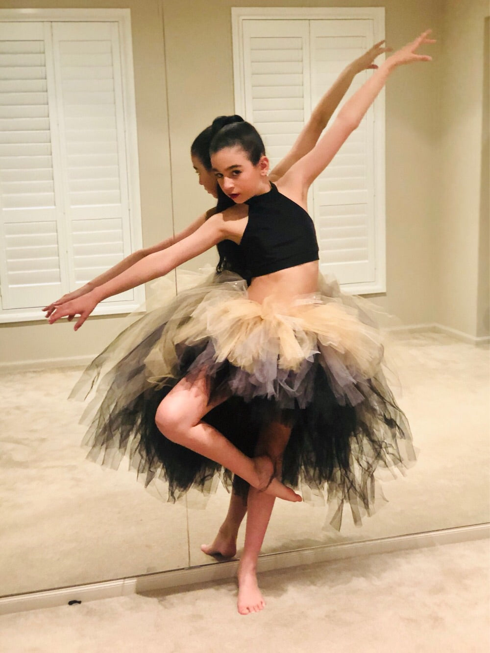 Silver & Gold OmbRÉ High Low TUTU