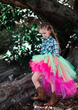Neon Punk OmbRÉ High Low TUTU