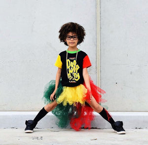 Rasta Princess Vibes HighLow TuTu